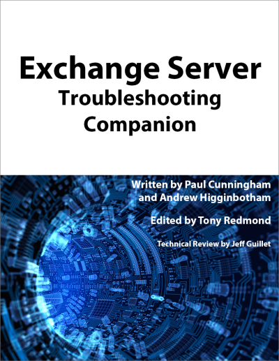 exchange server troubleshooting companion cover sales page