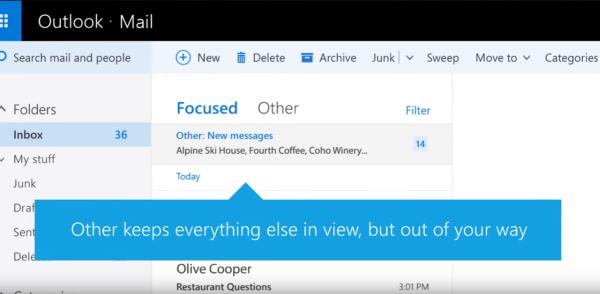 outlook focused inbox