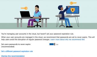 office  password expiry recommendation