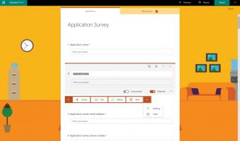 microsoft forms creating survey