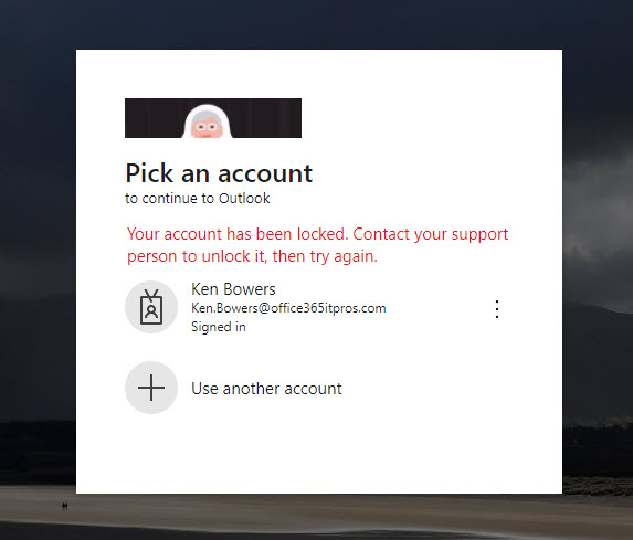A user is blocked from signing into their Azure AD account