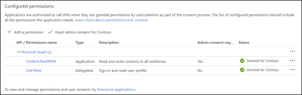 Prepopulating Outlook Contacts with the Graph API