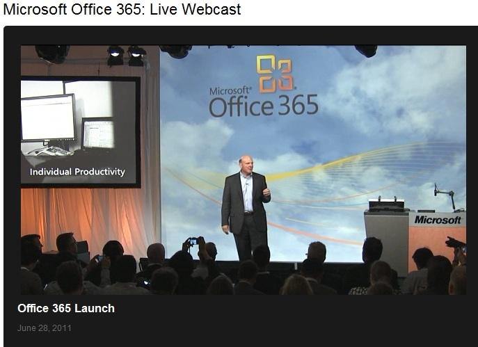 Steve Ballmer launches Office 365