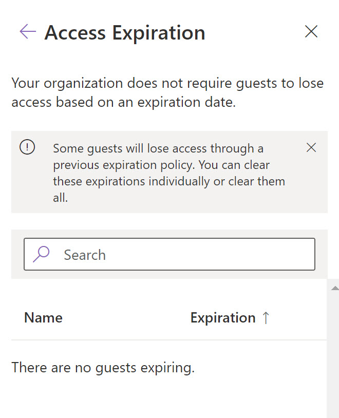 Where you manage guest expiration for a site