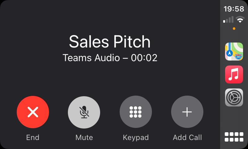 A meeting on Apple CarPlay in progress