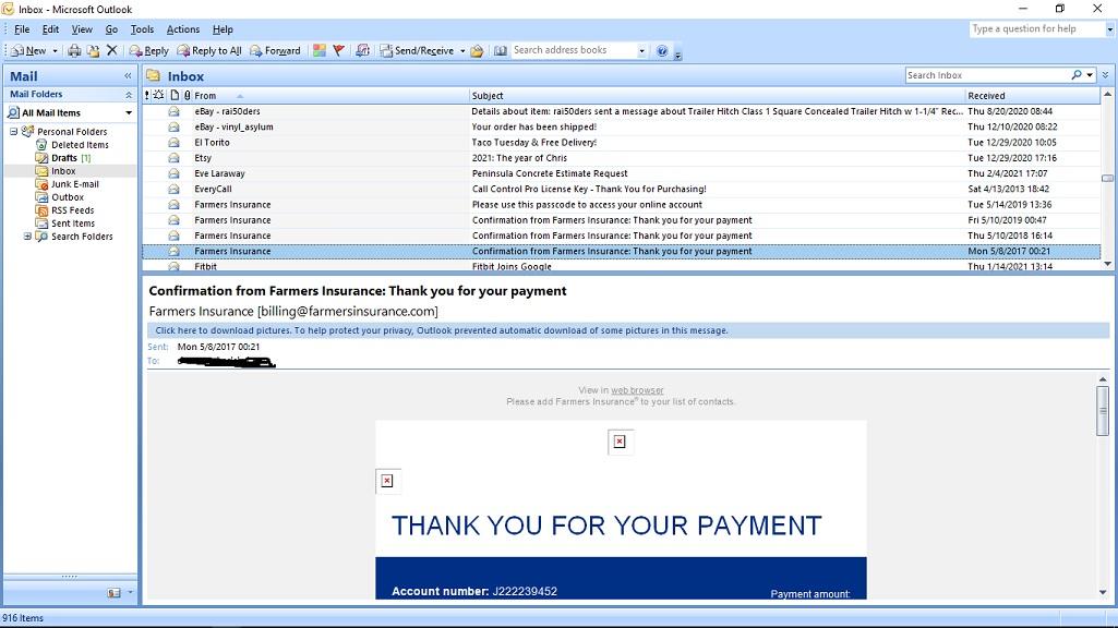 Outlook 2007 (source: Microsoft)